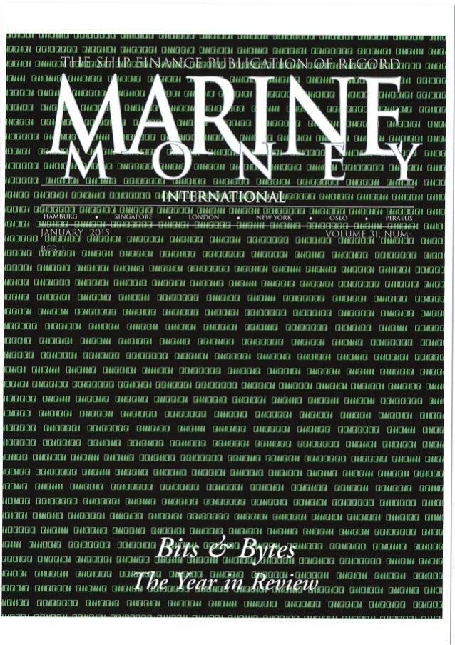 Risk On An Unwilling Diet - Herbert Soanes - Marine Money - Jan-Feb 2015