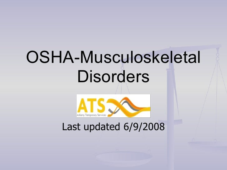 OSHA-Musculoskeletal Disorders