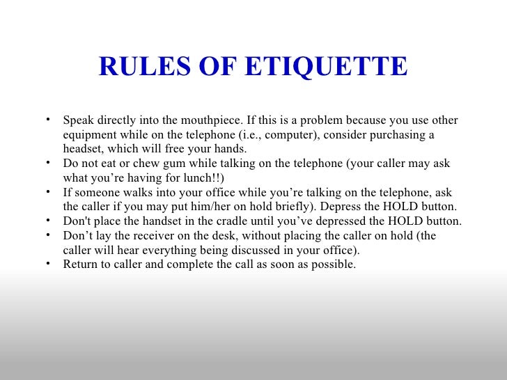 Office Etiquette for Employees