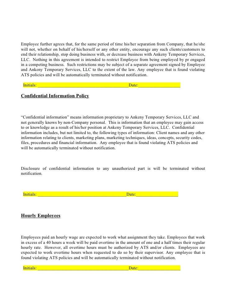Employee Handbook Intitials And Dates Updated 5 28 09
