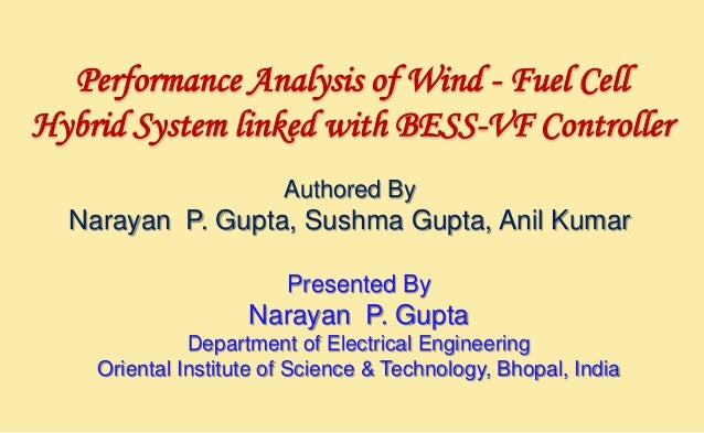 Performance Analysis of Wind - Fuel Cell Hybrid System linked with BESS-VF Controller Authored By  Narayan P. Gupta, Sushm...
