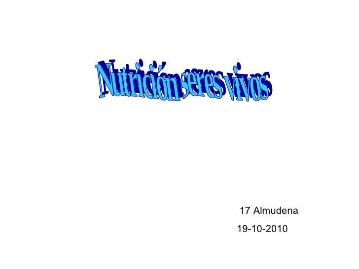 Nutrición seres vivos 17 Almudena 19-10-2010