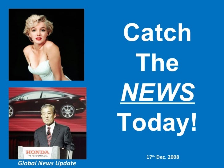 17 Dec Global News update catch the news today