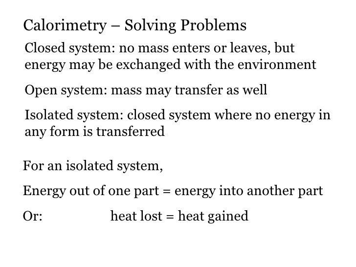 Solving calorimetry problems