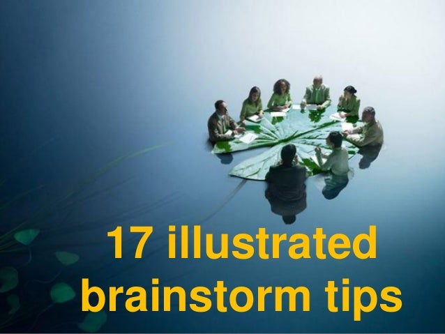 17 illustrated brainstorm tips