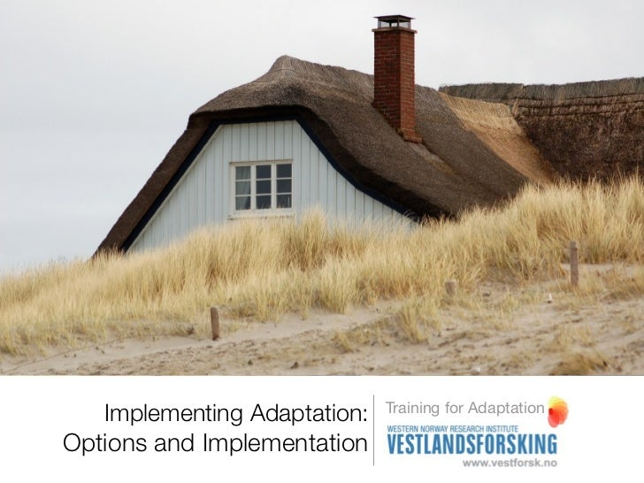 Implementing adaptation - Options & implementation - training for adaptation