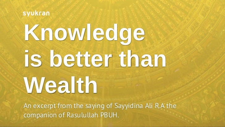 Essay on knowledge is better than wealth