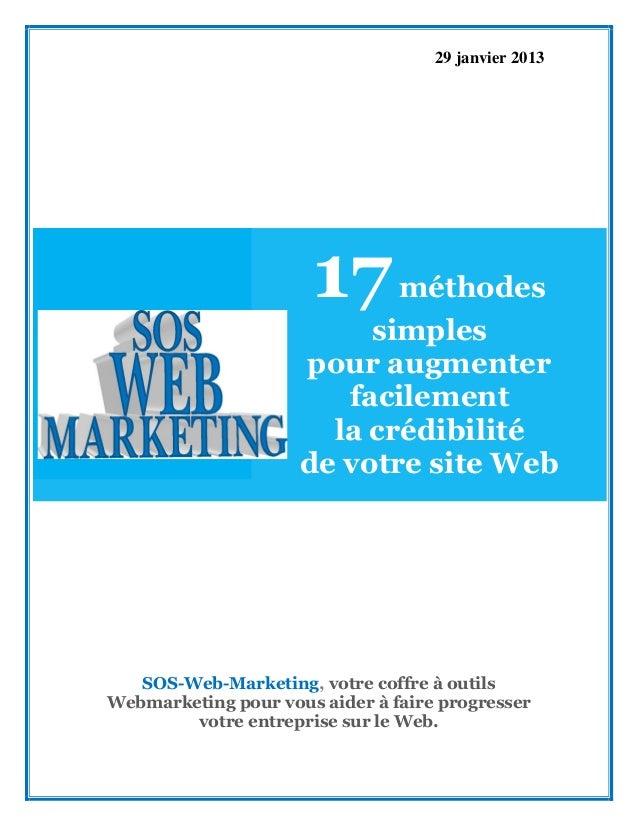 17 méthodes simples pour augmenter facilement la crédibilité de votre site web