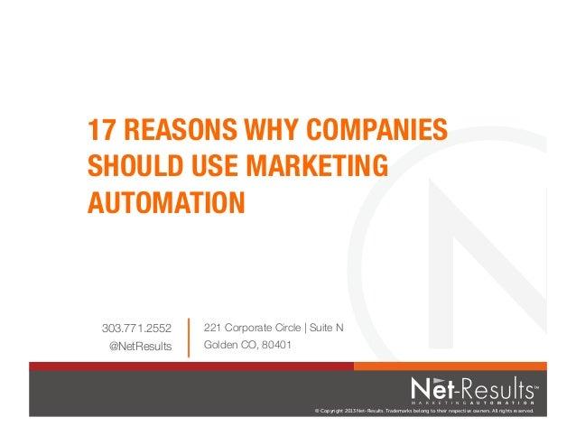 17 Reasons to Use Marketing Automation