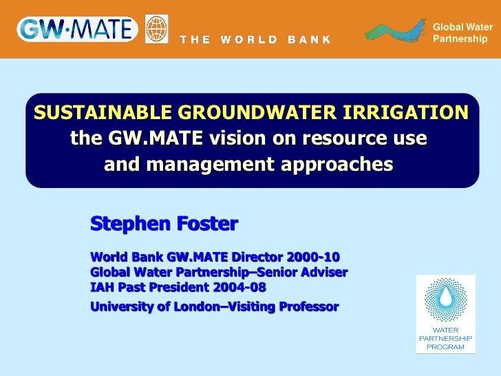 GLOBAL WATER                                                Global Water                                              PART...