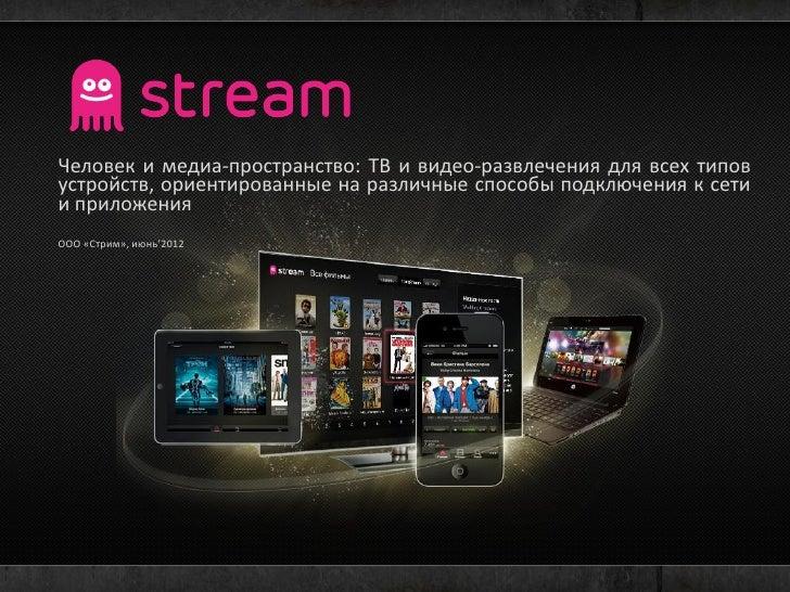 Человек и медиа-пространство: ТВ и видео-развлечения для всех типовустройств, ориентированные на различные способы подключ...