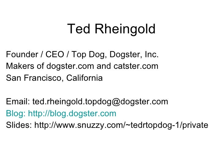 Ted Rheingold Dogs