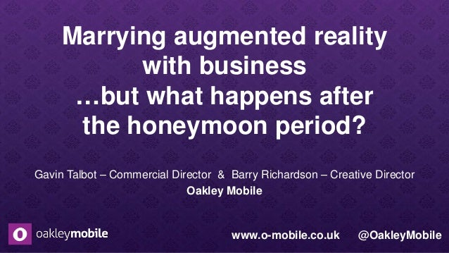 Marrying augmented reality with business …but what happens after the honeymoon period? Gavin Talbot – Commercial Director ...