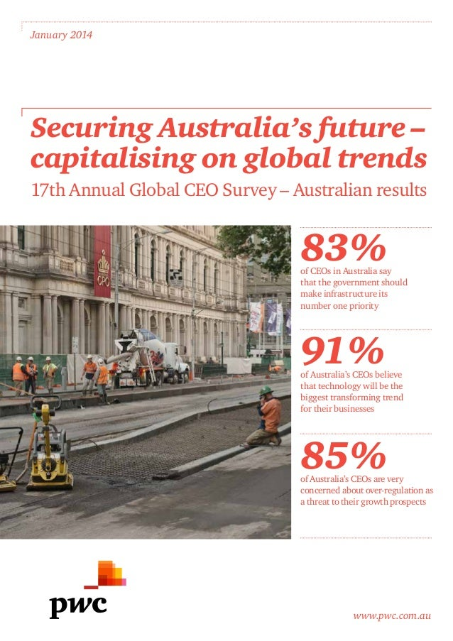 www.pwc.com.au January 2014 Securing Australia's future – capitalising on global trends 17th Annual Global CEO Survey – Au...