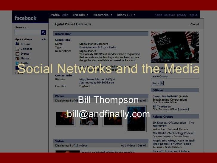 New Media Morning 2008 - Bill Thompson on Social Media
