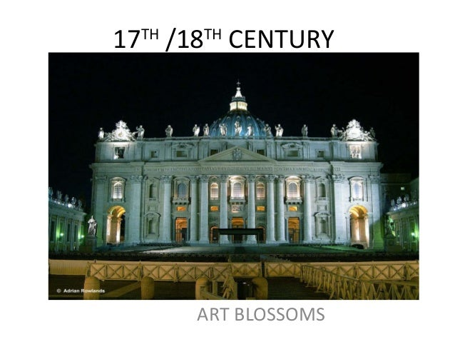 17TH /18TH CENTURY      ART BLOSSOMS