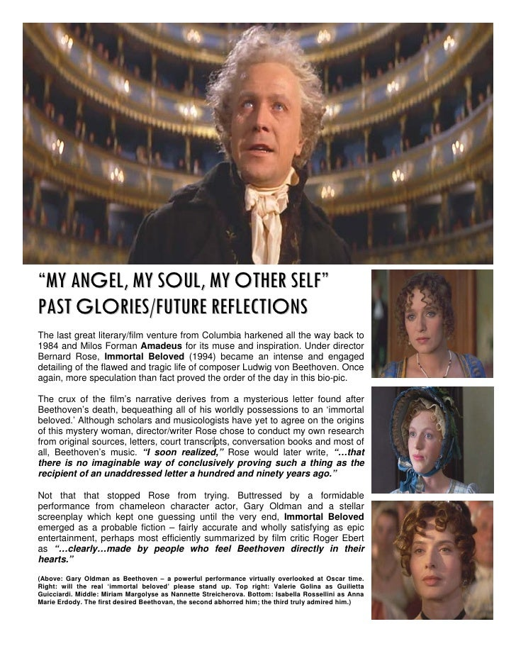 """MY ANGEL, MY SOUL, MY OTHER SELF""PAST GLORIES/FUTURE REFLECTIONSThe last great literary/film venture from Columbia harken..."