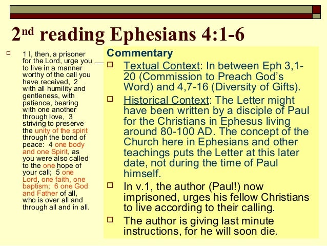 exegesis on ephesians 6 1 3 This exegesis paper on ephesians 4:1-6 was a final project in my greek exegesis practicum class tending more toward linguistic-grammatical exegesis than to exposition, the paper attempts to.