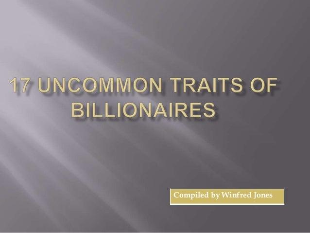17 traits of billionaires