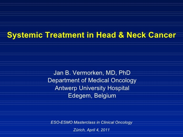 MCO 2011 - Slide 17 - J.B. Vermorken - Systemic therapy