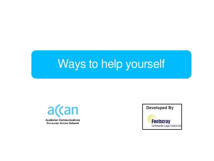 Phones and internet: Your rights – Lesson 5: Ways to help yourself