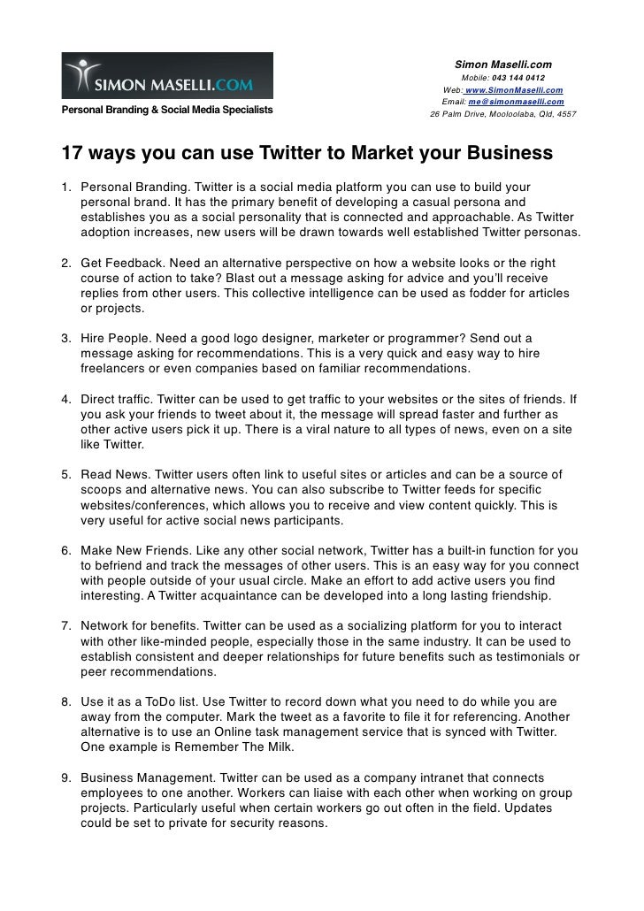 17 ways to use twitter to market your business