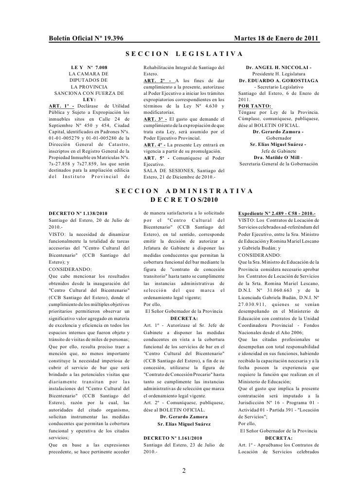 Boletín Oficial Nº 19.396                                                                Martes 18 de Enero de 2011       ...