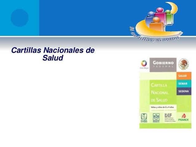 Cartillas Nacionales de Salud