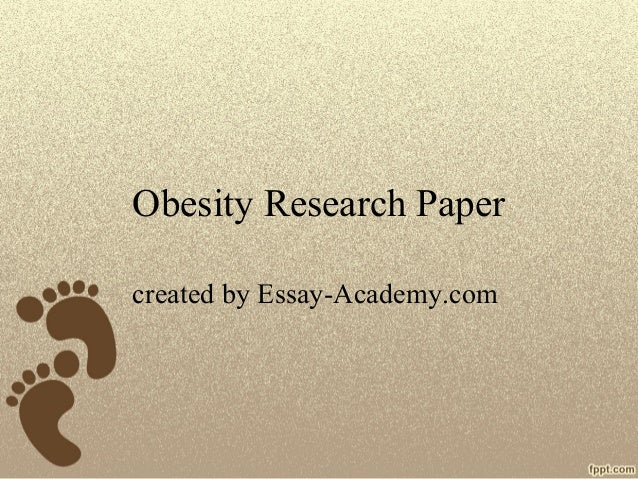 causes of childhood obesity research paper