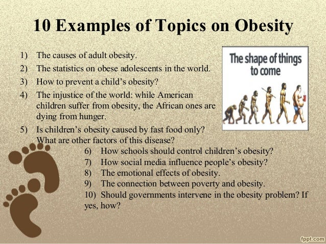 Obesity topics for research paper
