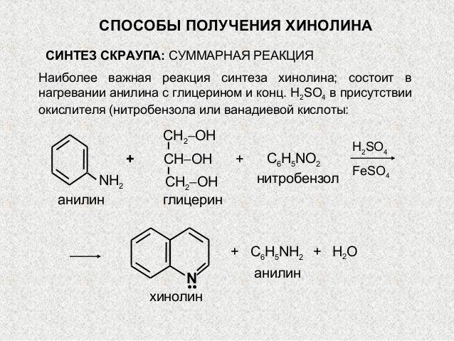внагревании анилина с