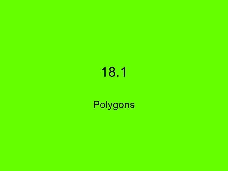 18 1 Polygons