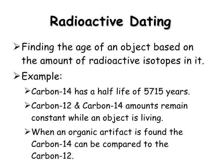 radiometric dating definition chemistry