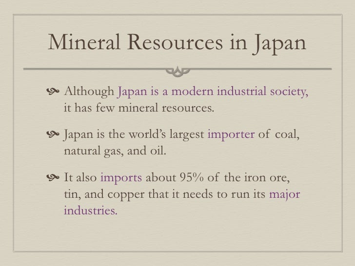 Mineral Resources Wikipedia Mineral Resources in Japan