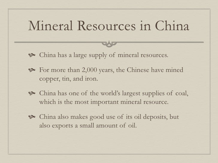 Mineral Resources Wikipedia Mineral Resources in China