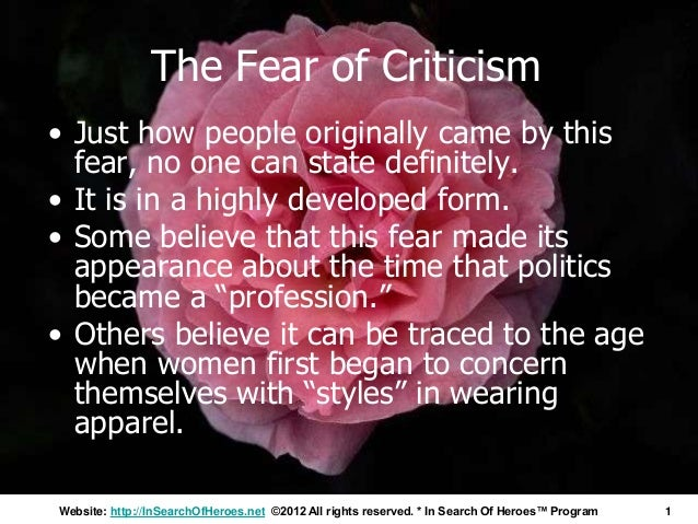 Napoleon Hill's Think and Grow Rich Explains Why Fear Of Criticism Destroys Your Productivity