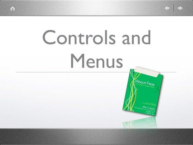 menus controls