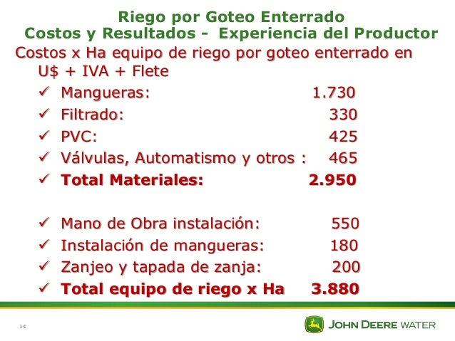 Riego por goteo enterrado costos y resultados - Sistema de riego por goteo automatizado ...
