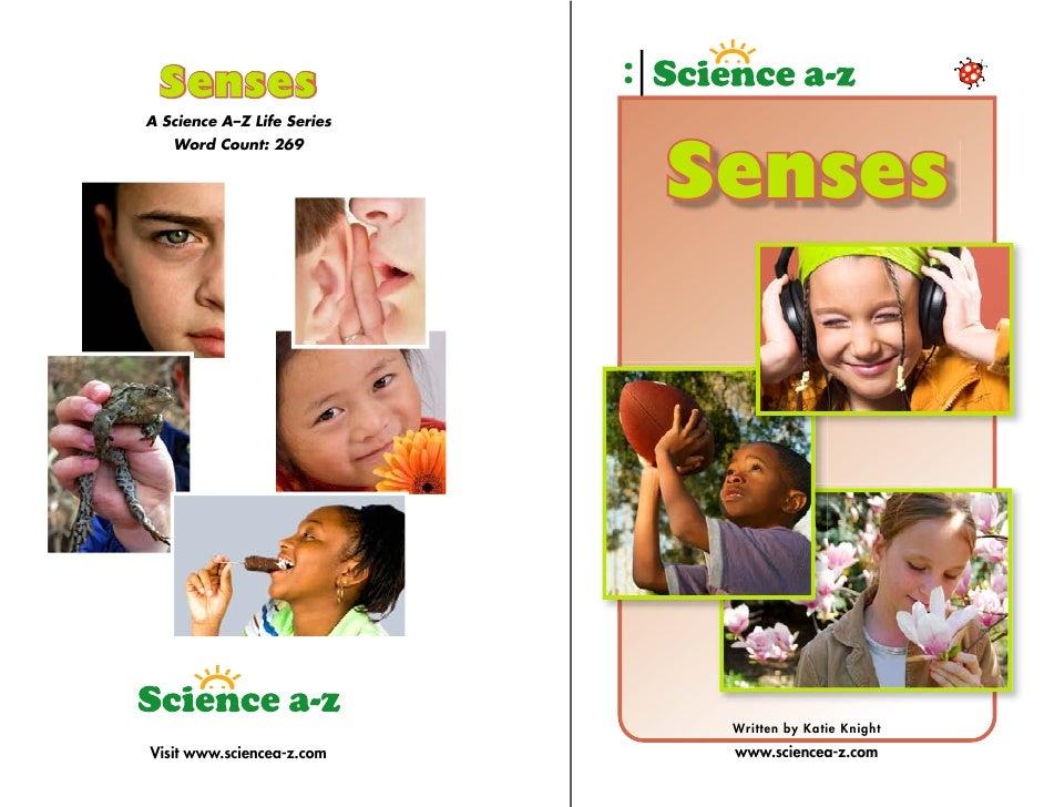 Senses A Science A–Z Life Series    Word Count: 269                               Senses                                  ...