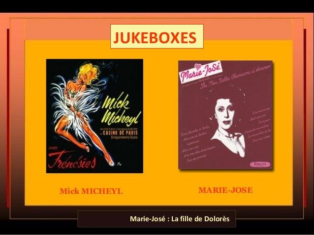 JUKEBOXES Mick MICHEYL MARIE-JOSE Marie-José : La fille de Dolorès