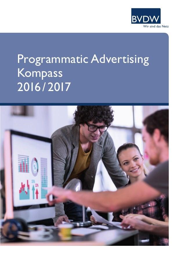 Programmatic Advertising Kompass 2016/2017
