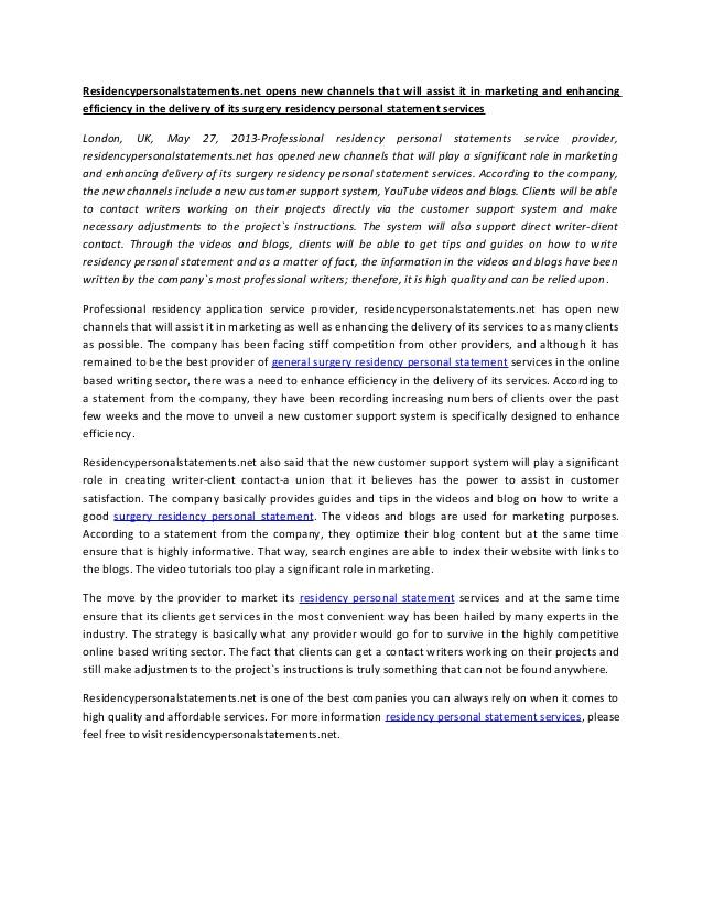 SUNY UPSTATE MEDICAL UNIVERSITY - sample personal statement