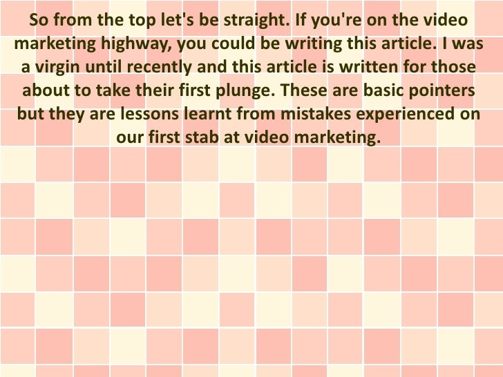 4 Steps to Success for Video Marketing Virgins