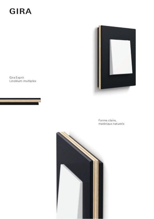 Forme claire, matériaux naturels Gira Esprit Linoléum-multiplex