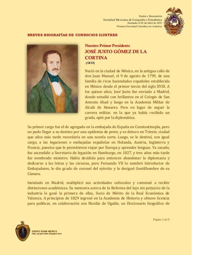 1833 JOSÉ JUSTO GOMEZ DE LA CORTINA