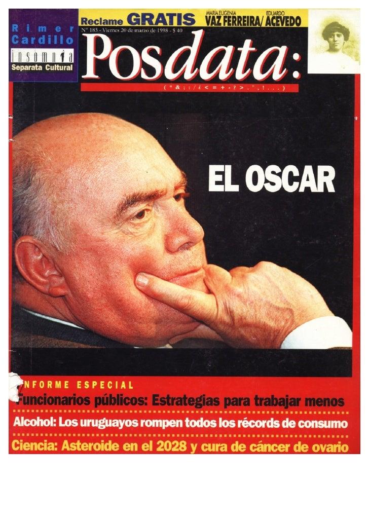 Oscar Magurno. Entrevista