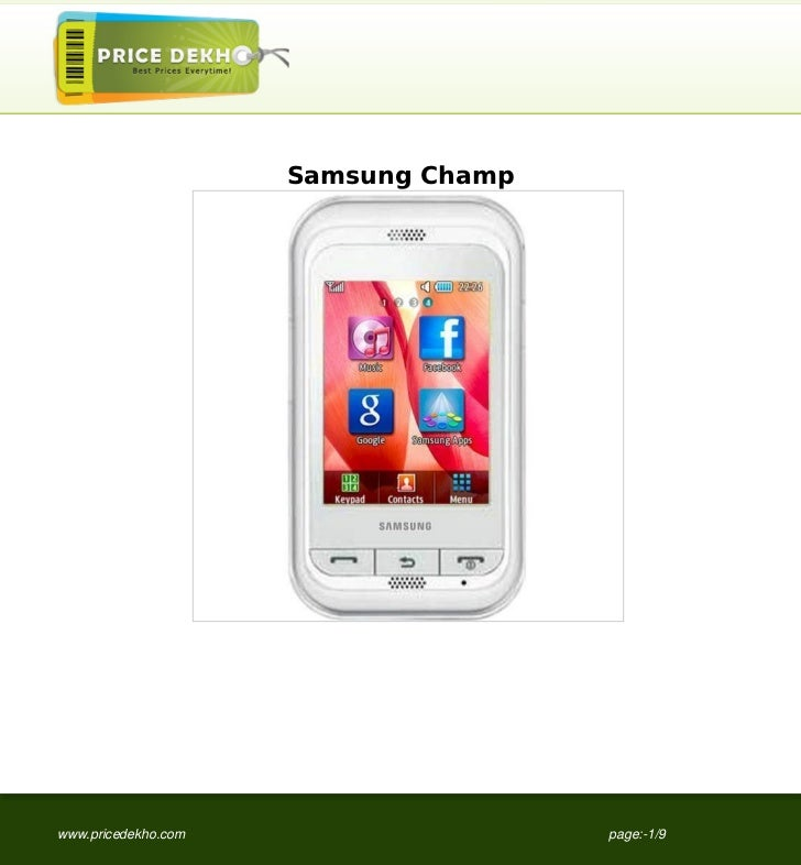 Samsung Champwww.pricedekho.com                   page:-1/9