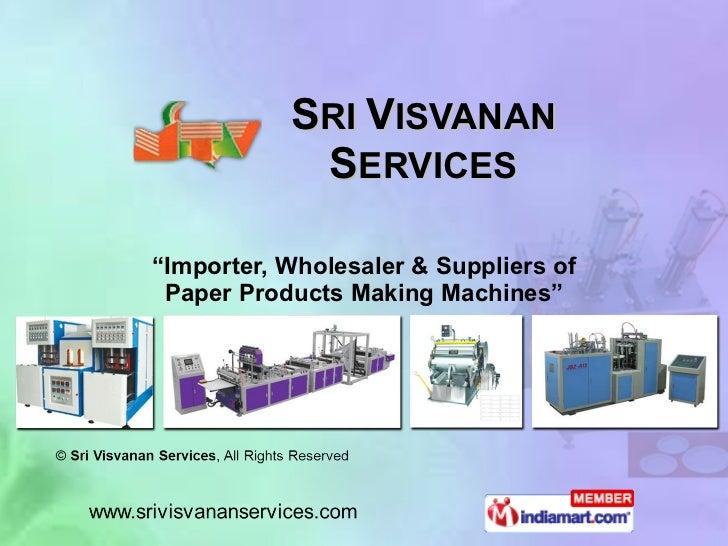 Sri Visvanan Services Tamil Nadu India