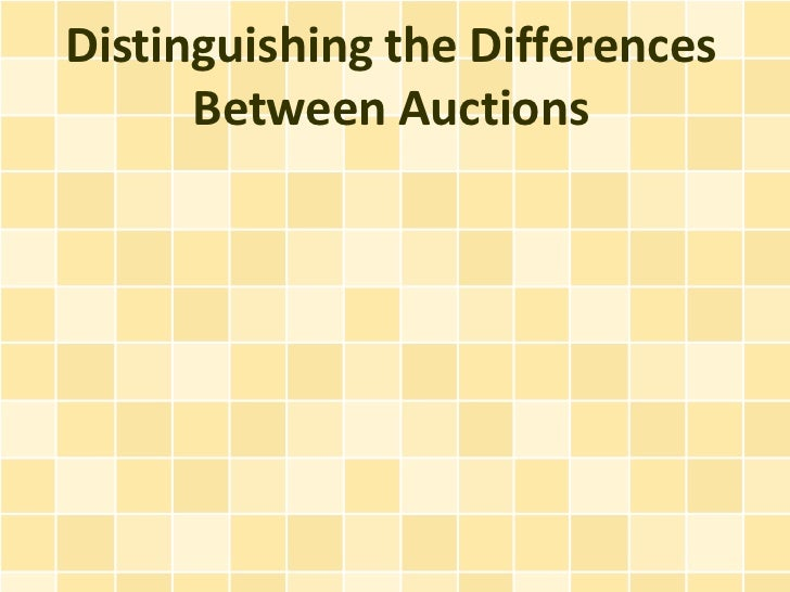 Distinguishing the Differences Between Auctions