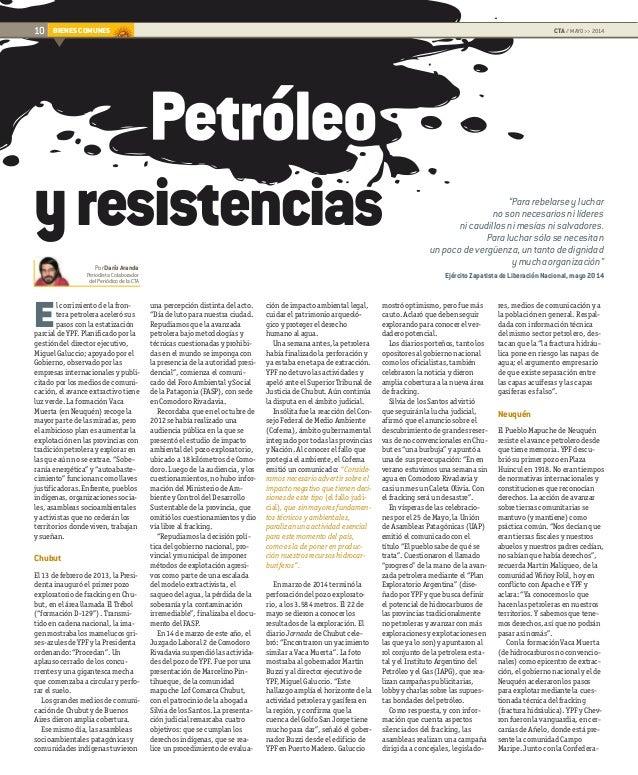 """JUVENTUDBIENES COMUNES PorDaríoAranda Periodista.Colaborador delPeriódicodelaCTA 10 CTA // MAYO >> 2014 """"Pararebelarseyluc..."""